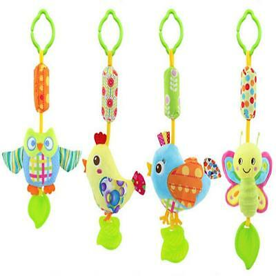 Animal Plush Hanging Baby Stroller Bed Toys Infant Wind Chimes Rattles Pull Bell • 4.31£