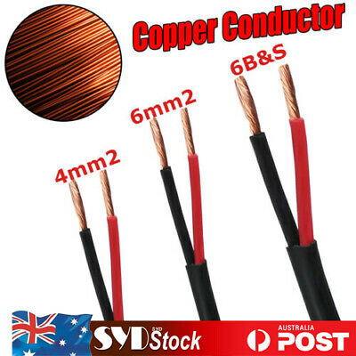 AU58.27 • Buy Twin Core Wire 6mm 4mm 6 B S 12V Cable 2 Sheath Auto Camper Trailer Solar Panels