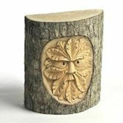 £14.99 • Buy Hand Carved Green Man In Tree Trunk