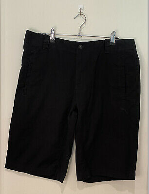 AU35 • Buy Men's Black Puma Cotton Shorts Front And Back Pockets Zip Fly With Button Size M
