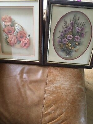 """£11 • Buy Decoupage Framed Pictures X2 Size 12"""" X14"""""""