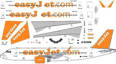 EasyJet  Airbus A320 Model Airliner Decal 1:144 Scale For Revell/ Zvezda Kit • 7£