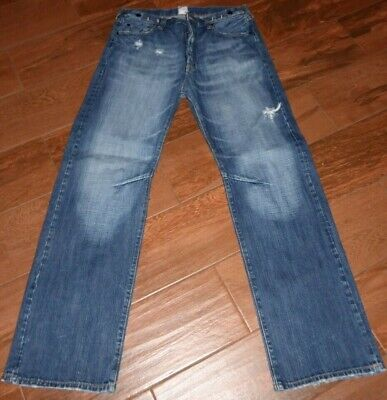 Men's PRPS Japanese Denim Size 36 X 32 Distressed Button Fly Jeans  • 57.88£