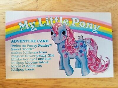 My Little Pony G1 Year 5 Adventure Card Twice As Fancy Ponies Sweet Tooth • 3.62£