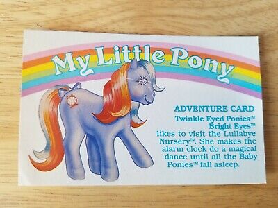 My Little Pony G1 Year 5 Adventure Card Twinkle Eyed Ponies Bright Eyes • 3.62£