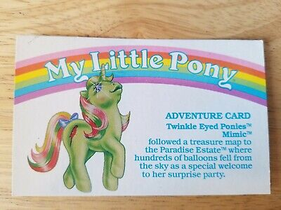 My Little Pony G1 Year 5 Adventure Card Twinkle Eyed Ponies Mimic • 14.47£