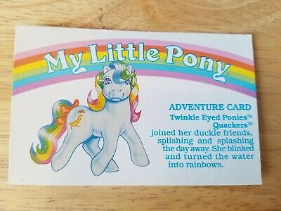 My Little Pony G1 Year 5 Adventure Card Twinkle Eyed Ponies Quackers • 3.62£