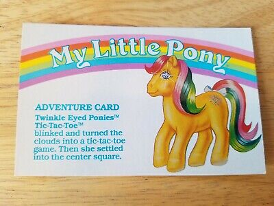 My Little Pony G1 Year 5 Adventure Card Twinkle Eyed Ponies Tic-Tac-Toe • 3.62£
