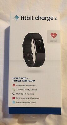 AU45 • Buy Fitbit Charge 2 Heart Rate Fitness Activity Tracker Black Wristband - Size Small