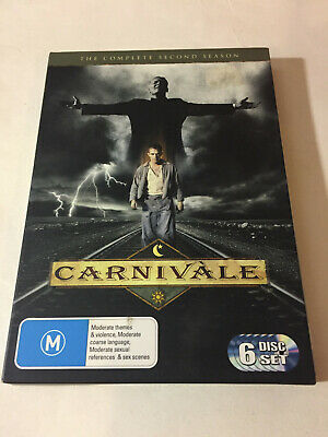 'CARNIVALE' Second Season 2006 Region 4 : 6 Disc DVD With Card Outer Cover • 7.20£
