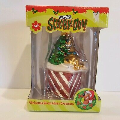 £19.09 • Buy Trevco Scooby Doo Santa Scooby In Chimney Blown Glass Holiday Christmas Ornament