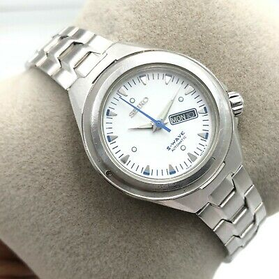 $ CDN50.74 • Buy Vintage Womens Seiko S-Wave 4206-0850 D/D 30mm Automatic Japan Wrist Watch B2264