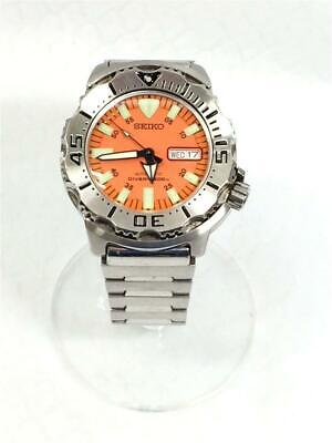 $ CDN661.96 • Buy Seiko Diver Scuba Day Date Orange Monster Stainless Steel Automatic Mens Watch