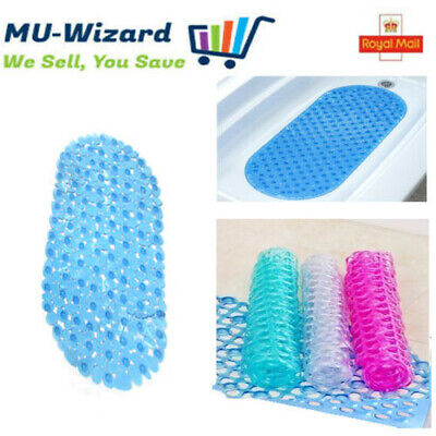 £4.99 • Buy High Quality Bubble  Bathroom Shower Mat Rug Anti Non Slip Suction Cups Rubber