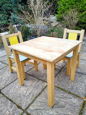 IKEA Children's Wooden Table And Chair Set • 5.50£