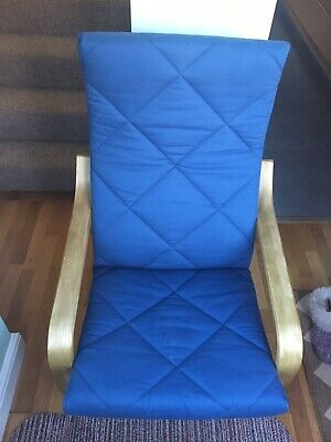 Ikea Poang Chair With Blue Cushion • 20£