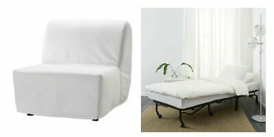 LYCKSELE - Chair-bed Cover, White • 25£