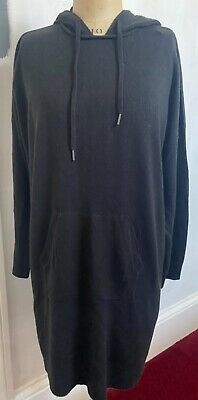 $ CDN15.78 • Buy NEW - NEXT Black Hoodie Jumper Dress Size L. 16-18