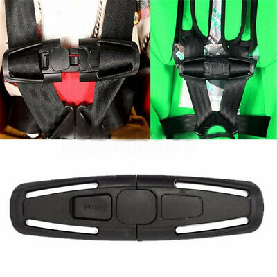 Black New Car Baby Safety Seat Strap Belt Harness Chest Child Clip Buckle Latch  • 2.50£