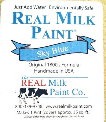 $7.29 • Buy The Real  Milk Paint Co. Powder SKY BLUE Makes 16 Oz