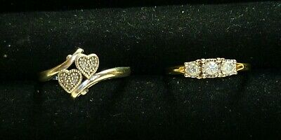 $ CDN19.02 • Buy Beautiful Vintage Sterling Silver 925 Promise Heart Ring Lot Size 7 - 9