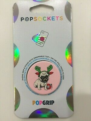 AU12.67 • Buy PopSockets PopGrip Cell Phone Grip & Stand - Holiday Pug NEW