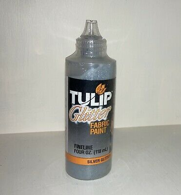 Tulip Glitter Fabric Paint Silver Glitter 118ml • 3£