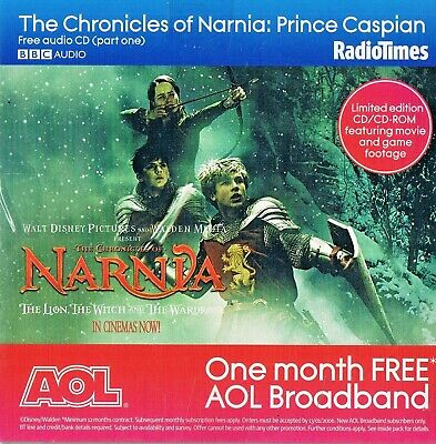 The Chronicles Of Narnia - Prince Caspian 3 Discs -  Audio Book CD N/Paper RT • 1.95£