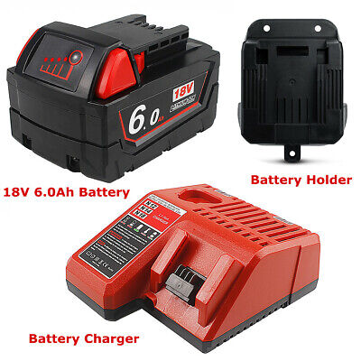 18V 6.0Ah Li-ion Battery For Milwaukee M18 48-11-1860 48-11-1850 1828 / Charger • 27.98£