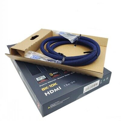 $ CDN84.34 • Buy Audioquest VODKA 48 HDMI Cable,10K Ultra HD Video,48Gbps,10% Silver,2M/6.6ft