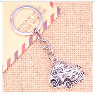 £3.39 • Buy CAR VW BEETLE STYLE Animal Keyring Metal Keychain Novelty Gift For Him Her