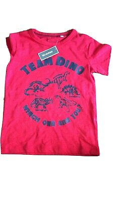 Bluezoo Boy's Dinosaur T-shirt 3 -4 Years Team Dino BNWT • 2£