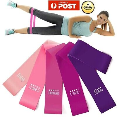 AU12.86 • Buy 1/5p Resistance Bands Power Heavy Duty Exercise Home Gym Yoga Fitness Loop Booty