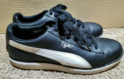 Puma Pg Clyde Golf Black And White Golf Shoes Men's Size 10 1/2 Us Eco Ortholite • 38.02£