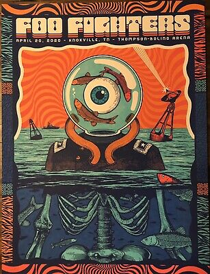 $199.99 • Buy Foo Fighters Rare Concert Poster Knoxville Tennessee 2020 #127/175