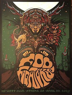 $199.99 • Buy Foo Fighters Rare Concert Poster Athens Georgia 2020 #89/175