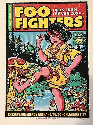 $199.99 • Buy Foo Fighters Rare Concert Poster Oklahoma City 2020 #160/175