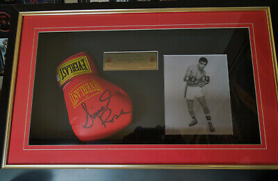 AU350 • Buy Lionel Rose Hand Signed Boxing Glove In Box Frame