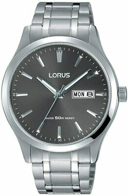 £28.99 • Buy Lorus Mens Gents Watch With Grey Dial And Silver Strap RXN35DX9