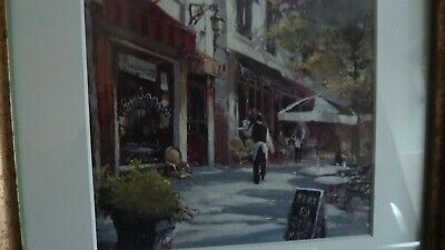 £38 • Buy French Cafe Scene Framed Picture