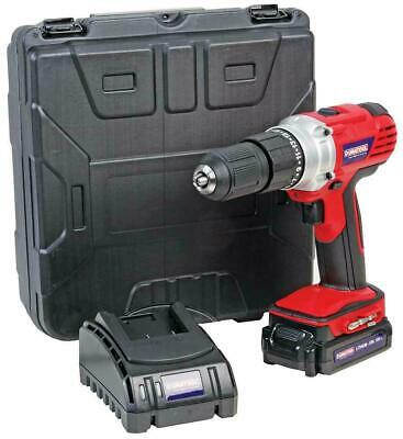 £64.95 • Buy 18V 2Ah Li-Ion Cordless 13mm Drill Driver DURATOOL - D03212 Kit With Carry Case