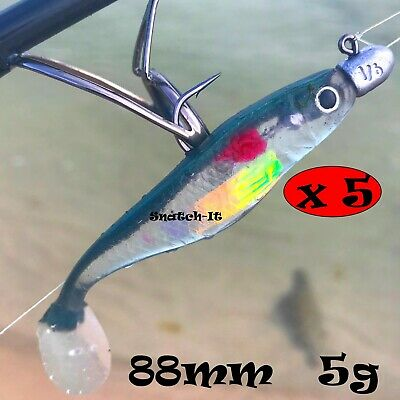 AU7.99 • Buy 5 Soft Plastic Fishing Lure Tackle  Paddle TAIL FLATHEAD Bream Bass Cod Lures