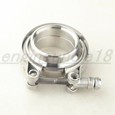 AU28.96 • Buy 2  Inch SS304 V Band Clamp & CNC Mild Steel Self Aligning Male/Female Flange Kit