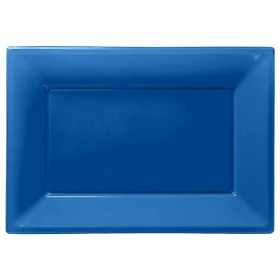 £3.89 • Buy Plastic Serving Platter Plates Trays Wedding Buffet Party Tray Bright Blue