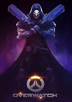 $ CDN54.81 • Buy Reaper Overwatch Canvas Wall A2 A1 A0 Large Gift Present SW0855