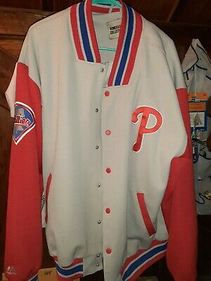 $33 • Buy Majestic Cooperstown Collection Philadelphia Phillies Jacket Men's XL Tall
