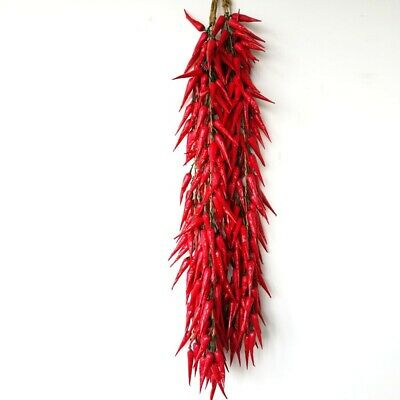 £14.16 • Buy Artificial Dried Chillies String Fake Hot Pepper Faux Fruit House Kitchen Decor