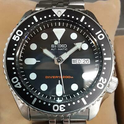 $ CDN897.29 • Buy Seiko Black Boy SKX007K2 Diver Scuba Day Date SS Automatic Mens Watch Auth Works