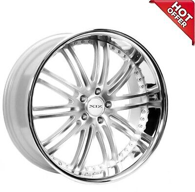 $1869 • Buy 4ea 22x9/22x10.5 Staggered XIX Wheels X23 Silver Machine With SS Lip Rims (S9)