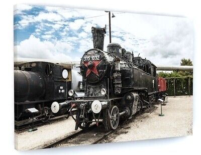 £39.98 • Buy Steam Train Canvas Picture Print Wall Art D807